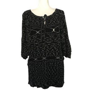BCBGMaxazria Black & White Light Knit Sweater M